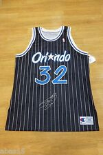 SIGNED SHAQUILLE O'NEAL 1992-93 AUTHENTIC CHAMPION ROOKIE JERSEY SHAQ AUTO COA