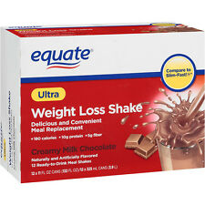 Equate Creamy Milk Chocolate Ultra Weight Loss Shake, 12ct