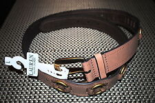 RALPH LAUREN WOMENS DESIGNER 100% COWHIDE LEATHER BELT BROWN LARGE RP $68.00 NWT