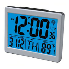 Jumbo Large LCD Display Atomic Alarm Clock - Low Vision