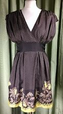 Ted Baker 100% Silk Empire Line Party Cocktail Dress - Size 2 EXCELLENT COND