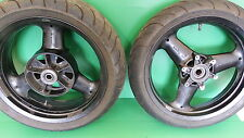 TRIUMPH PAIR  WHEELS & TYRES BLACK 3 TROPHY DAYTONA TRIDENT SPEEDTRIPLE 900 1200