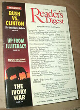 READER'S DIGEST 1992 OCTOBER BUSH VS CLINTON;ILLITERACY;IVORY WAR;BAIKAL;IRAN