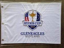 "2014 RYDER CUP GOLF PIN FLAG Gleneagles Scotland 20 X 14"" EMBROIDERED"