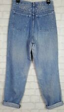 WOMENS HIGH WAISTED VINTAGE RENEWAL GRUNGE URBAN MOM MADONNA JEANS W28
