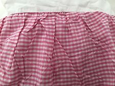 Pink Gingham Plaid QUEEN Bed Skirt dust ruffle Company Store NEW check girl