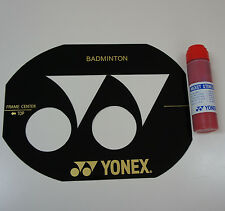 Yonex Badminton Racquet String Bed Stencil Card & Stencil Ink