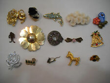 Estate Sale Lot of 15 Vintage Pins Brooches Coventry Gerry's Miracle