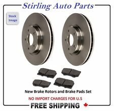 PAIR OF 2 DISC ROTORS & 4 BRAKE PADS SET (FRONT) - 55060 Fits Chevrolet Tracker
