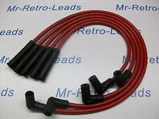 RED 8MM PERFORMANCE IGNITION LEADS WILL FIT VAUXHALL NOVA 1.3 1.4 QUALITY LEADS.