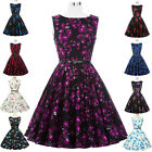 Plus Size Vintage Women Retro Style 50s Dress Floral Swing Pinup Cocktail Party