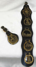 Horse Brass Devils Bridge Wales Conway Castle Tally Ho 3 Feathers Door Knockers