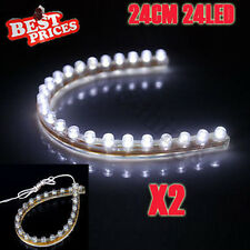 2x Bianco 24LED 24CM PVC flessibile impermeabile Acquario Fish Tank Light Strip