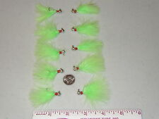 HAND TIED MARABOU JIGS TROUT STEELHEAD CRAPPIE 1/32 oz. CHARTREUSE
