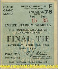 reproduction 1948 MANCHESTER UTD BLACKPOOL fa cup final ticket [RMT]