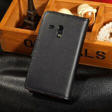 Genuine Leather Flip Wallet Case Stand Cover For Samsung Galaxy S3 Mini I8190