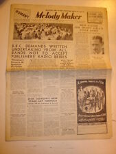 MELODY MAKER 1939 APRIL 29 BBC HENRY HALL JACK JACKSON JACK PAYNE JAZZ SWING