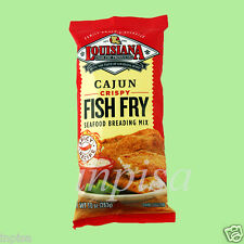 LOUISIANA FISH FRY 3 Bags x 10oz CAJUN CRISPY SEAFOOD BREADING MIX