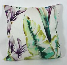 "Harlequin Fabric Cushion Cover 16"" x 16""Paradise Papaya/Flamingo/Apple Linen Mix"