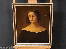 ÖL GEMÄLDE ANTIK PORTRAIT DAME MÄDCHEN BIEDERMEIER ?  painting lady woman girl
