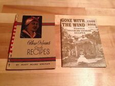 New Orleans Creole Recipes Mary Moore Bremer 1960 & Gone With The Wind Cookbooks