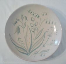 "Upsala Ekeby Green Flora 11"" Bowl #262 Sweden Art Pottery Anna Lisa Thomson"