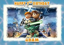 Personalised birthday card star wars lego son grandson son  boy friend j