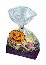 Kitchen Craft 30 Halloween Trick or Treat Cellophane Sweet Bags & Labels Kits