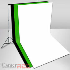 PHOTO Studio three cotton muslin backdrop ( 3 x 6 m) + Background Support kit UK