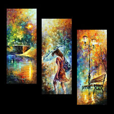 Aura of Autumn (Set of 3 paintings) —  Oil Painting On Canvas By Leonid Afremov