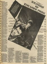5/12/81PGN13 ADVERT: ARTICLE ABOUT BAND BOYS OWN RAIDERS OF THE LOST PUNK