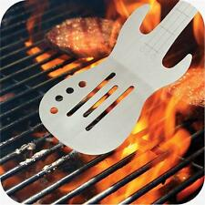 IGGI Wooden Handle BBQ Burgers Stainless Steel Rock Guitar Spatula Tool
