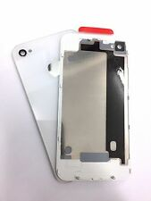 Apple iPhone 4 4G GSM Replacement Rear Glass Back Cover Battery Door A1332 White