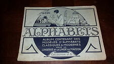 ALPHABETS - Album des modèles classiques et modernes pour la lingerie - Broderie