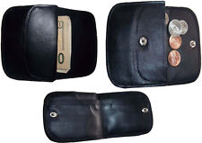Women's Soft Leather Wallet, 2 Black Change purse coin wallet Brand New Lot of 3