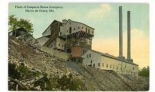 Havre De Grace MD -CASPARIS STONE QUARRY/CRUSHER- Postcard Maryland