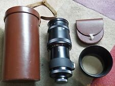 Leather cased carl zeiss jena 300mm f4 sonnar premier objectif avec mount