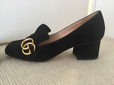 Gucci, Marmont Fringed Black Suede Pumps, 36.5, Worn Twice