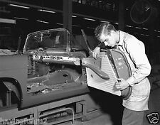 1955 Thunderbird Assembly Line Interior Door Panel Installed 8 x 10 Photograph