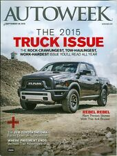 2015 Autoweek Magazine: Truck Issue/Ram 4x4/Toyota Tacoma/Vermont Trail