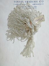 Pr Vintage/Antique Art Deco Victorian Glass Beaded Tassel Fringe  2 3/4""