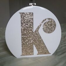 "NWT Authentic Limited Edition Kate Spade Gold Evening Belles Initial ""K"" Clutch"