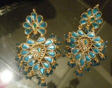 Boucles d'oreilles indienne Rajasthan traditionnelle inde bollywood sari neuve