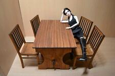 furniture for Dolls Barbie FR 12 inches BAR Table & 4 chairs 1/6 scale 1:6