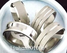 wholealse 36 pcs silver trim line stainless steel rings