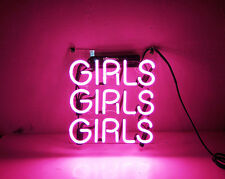 TN091 'GIRLS' Beer Bar Bike Wall Room Display Real Neon Light Sign 9x9 Gift