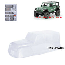 Paintable Clear PVC Body Shell & Decal For 313mm 1:10 Climbing Jeep Wrangler D90