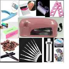 9W UV Nail Polish Dryer Lamp Gel Acrylic Curing Light kit +10 valuable gift set