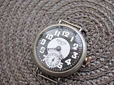Vintage and Rare Hebdomas 8 Day Movement WW1 Officers Wire Lug Trench Wristwatch