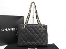 Auth CHANEL Matelasse Hand Bag Caviar Skin France Free Shipping 30130154600 V14X